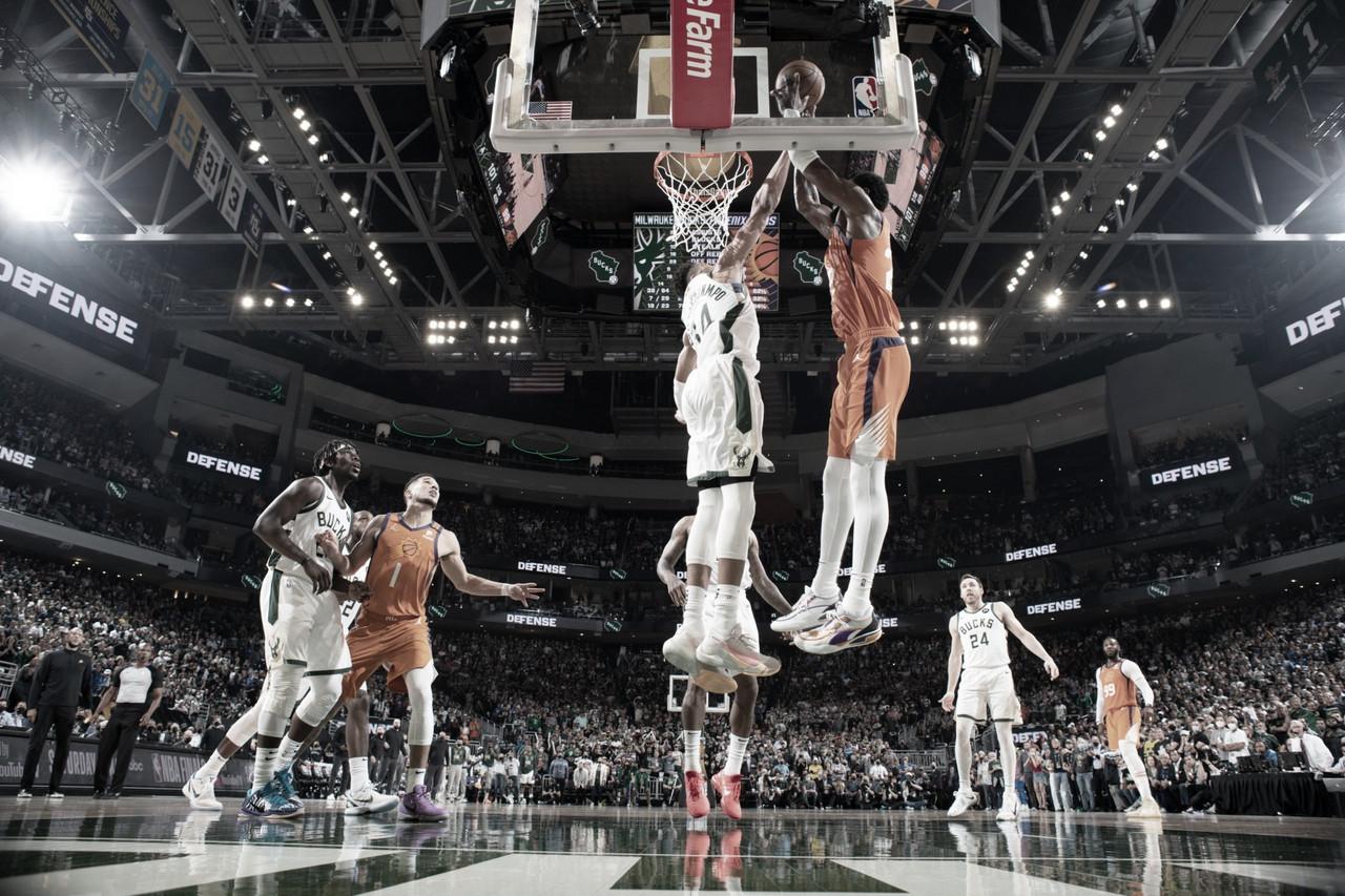 Em partida equilibrada, Bucks derrotam Suns e empatam série na NBA Finals