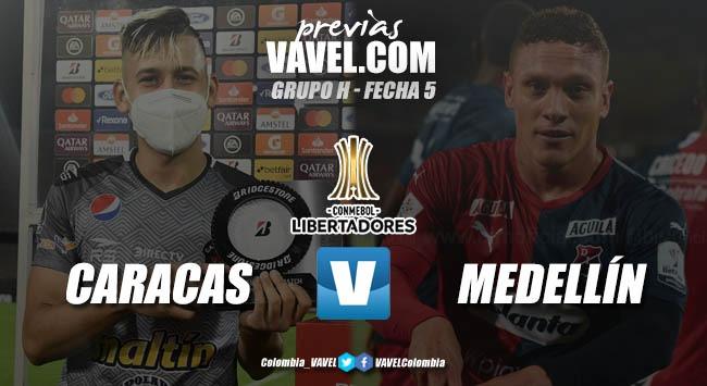 Previa Caracas FC vs Independiente Medellín: el 'poderoso' juega por el honor