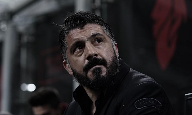 """Gattuso lamenta eliminação do Milan na Coppa Itália: """"Sofremos um baque"""""""