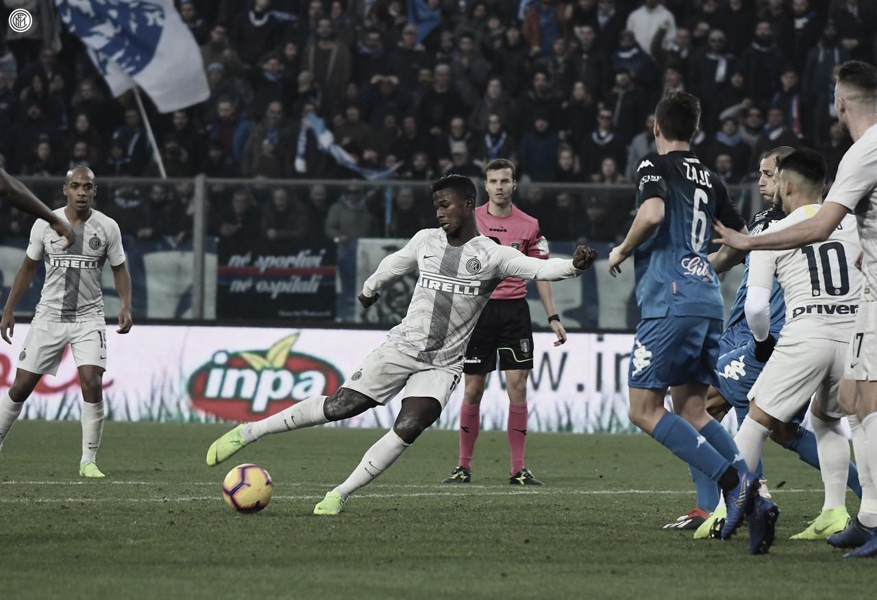 Inter vence Empoli fora de casa e fecha primeiro turno na terceira posição