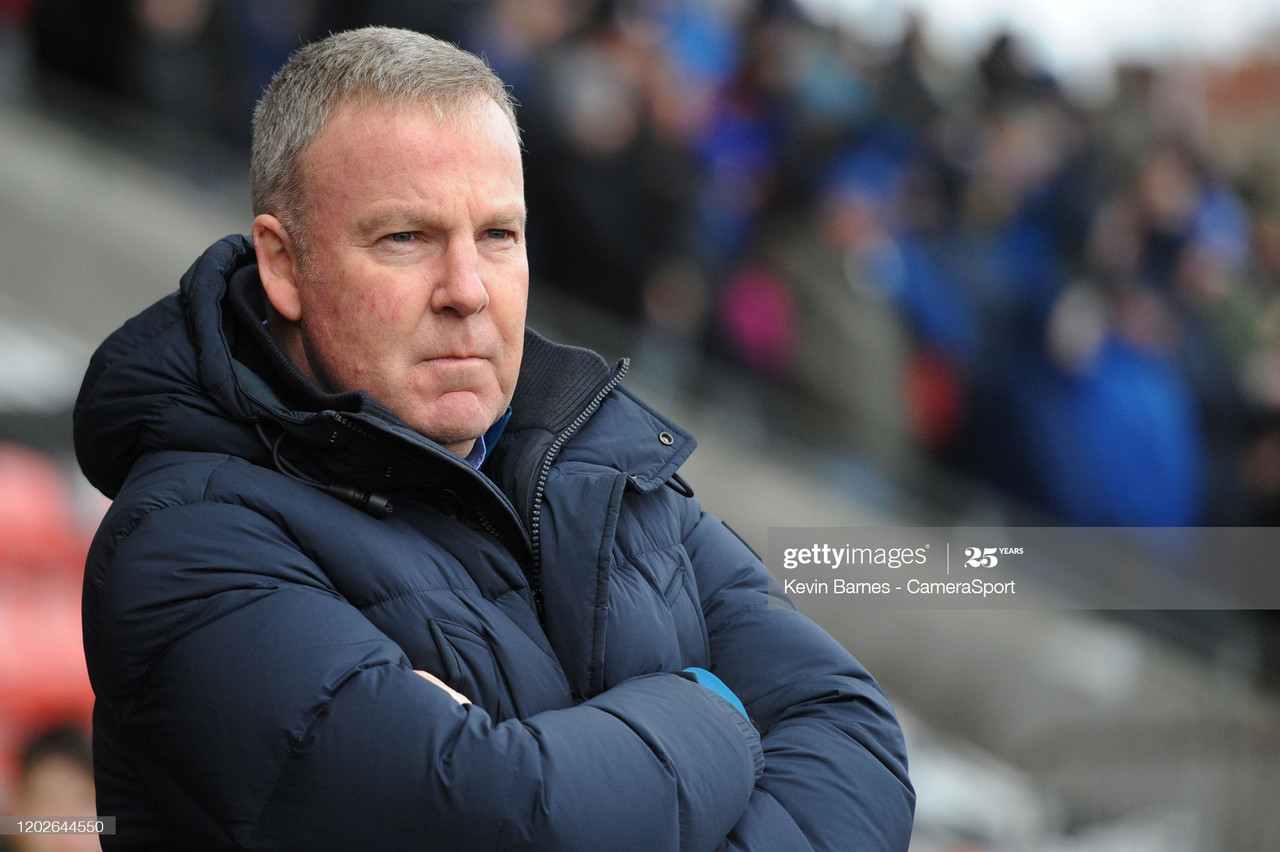 Kenny Jackett felt his Portsmouth side deserved their victory on Tuesday | Photo by Kevin Barnes -  CameraSport via GettyImages