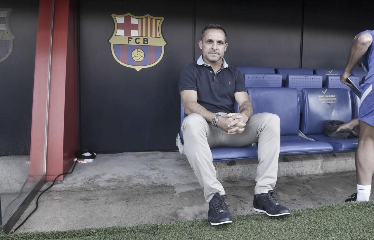 """Sergi Barjuan: """"Estoy cogiendo la experiencia de lo que quiere el club"""""""