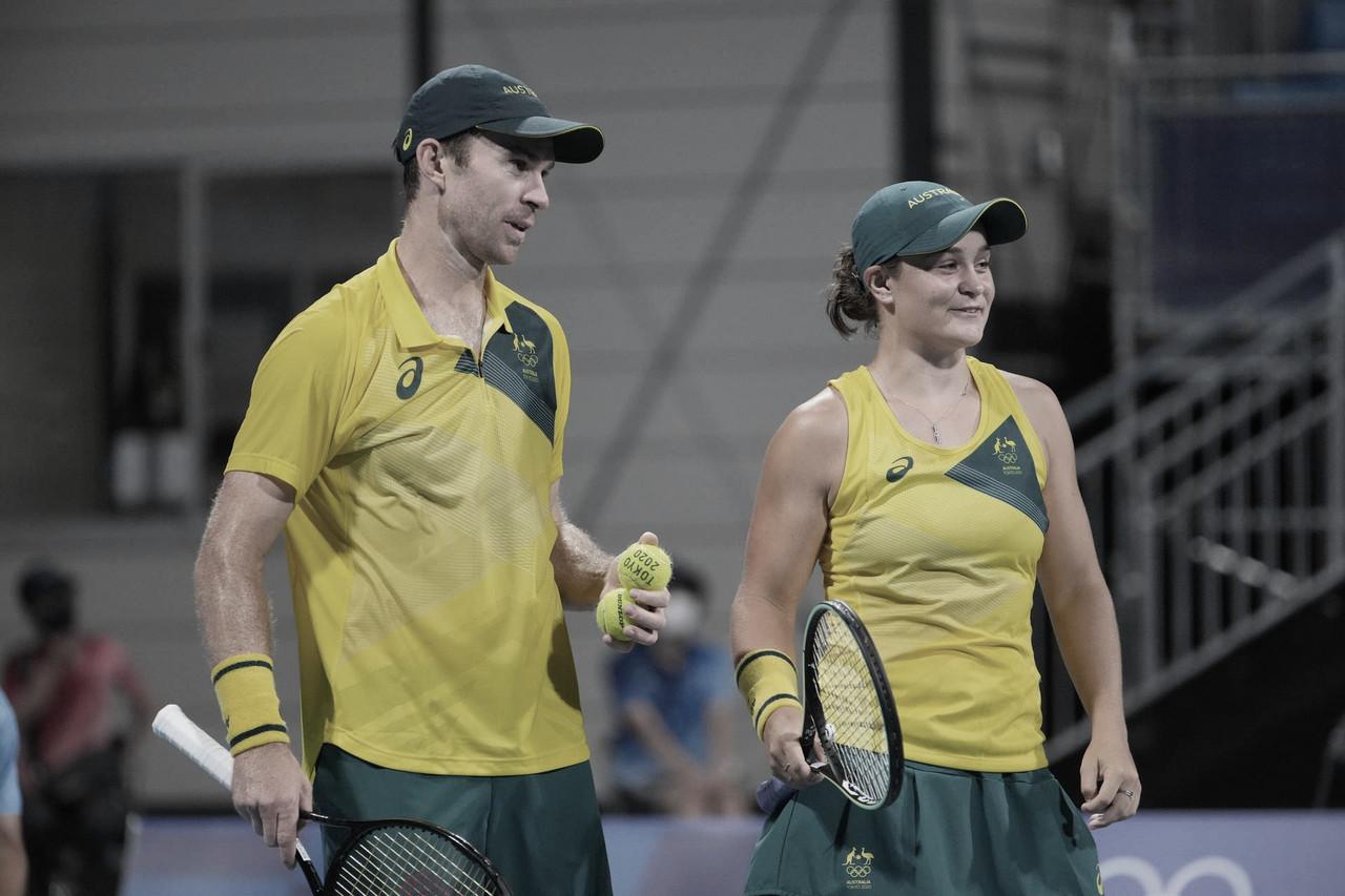 Djokovic desiste e Barty/Peers faturam bronze nas duplas mistas em Tóquio