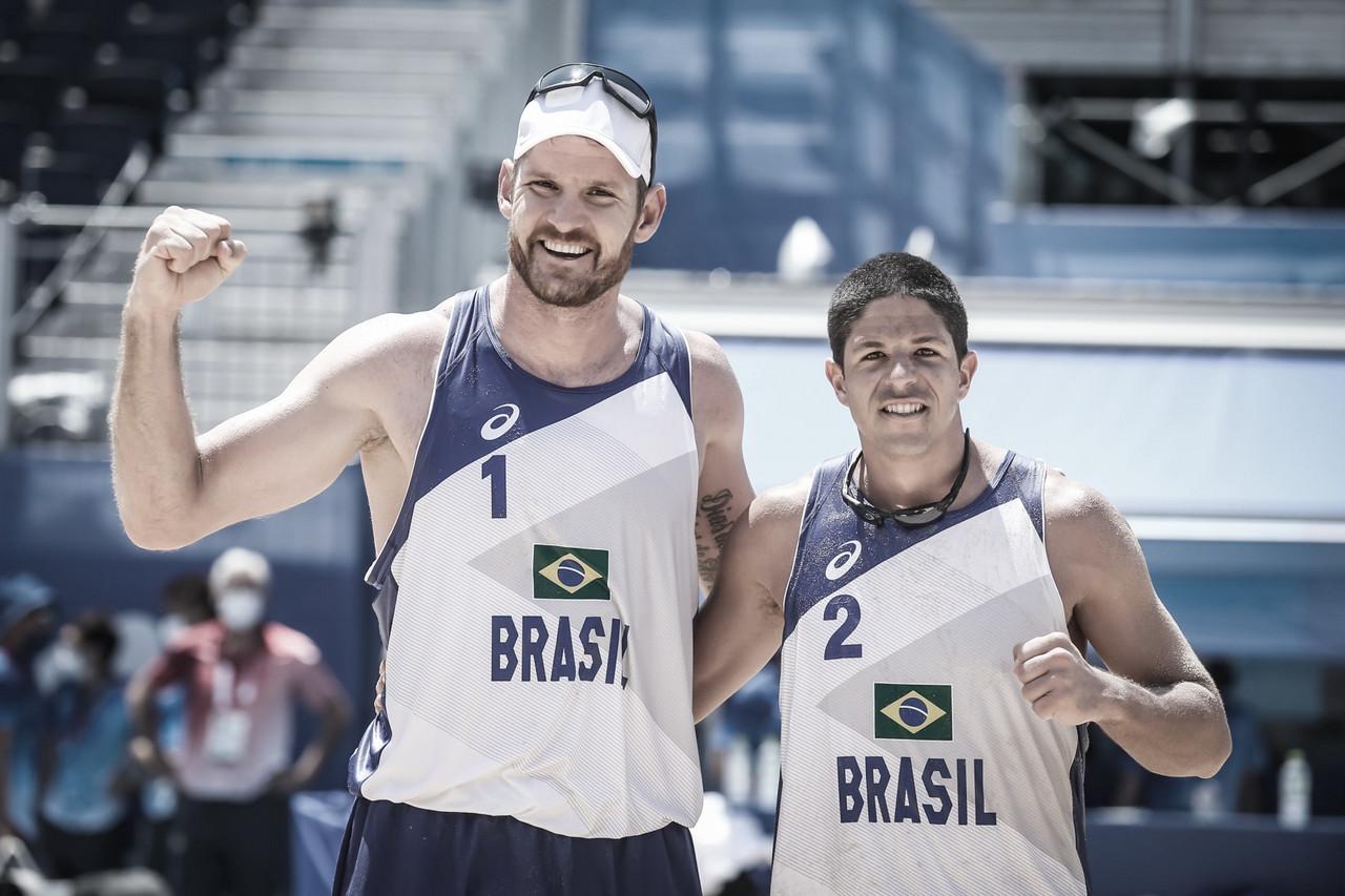 Resultado Alison/Álvaro Filho x Plavins/Tocs pelo vôlei de praia nas Olimpíadas de Tóqui (0-1)