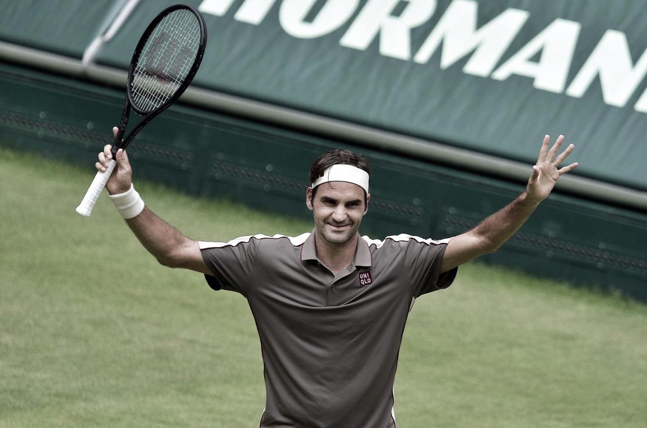 Em busca do decacampeonato, Federer vence Tsonga e avança às quartas do ATP 500 de Halle
