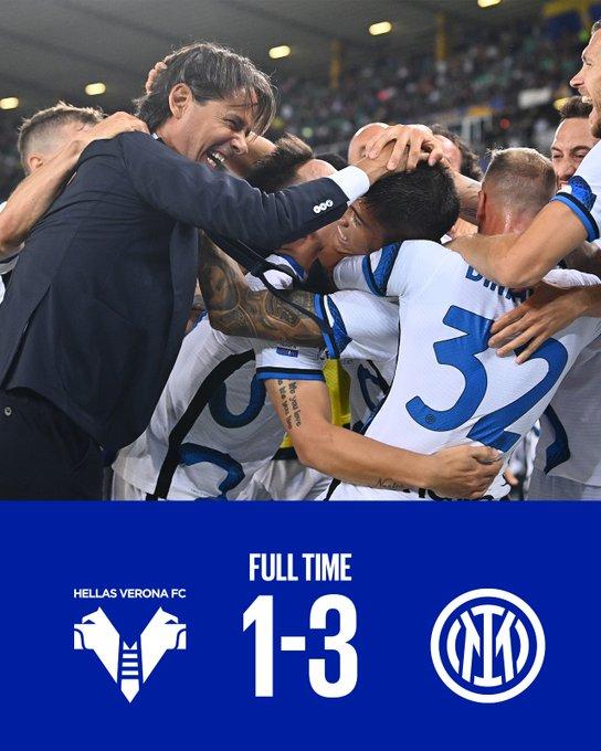 Serie A - L'Inter vince in rimonta: battuto il Verona per 3-1