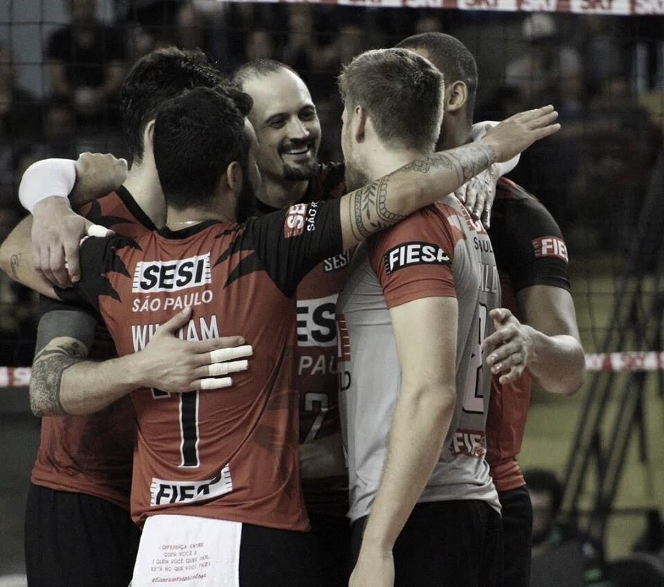 Sesi-SP domina partida, vence Sesc-RJ e abre vantagem na semifinal da Superliga