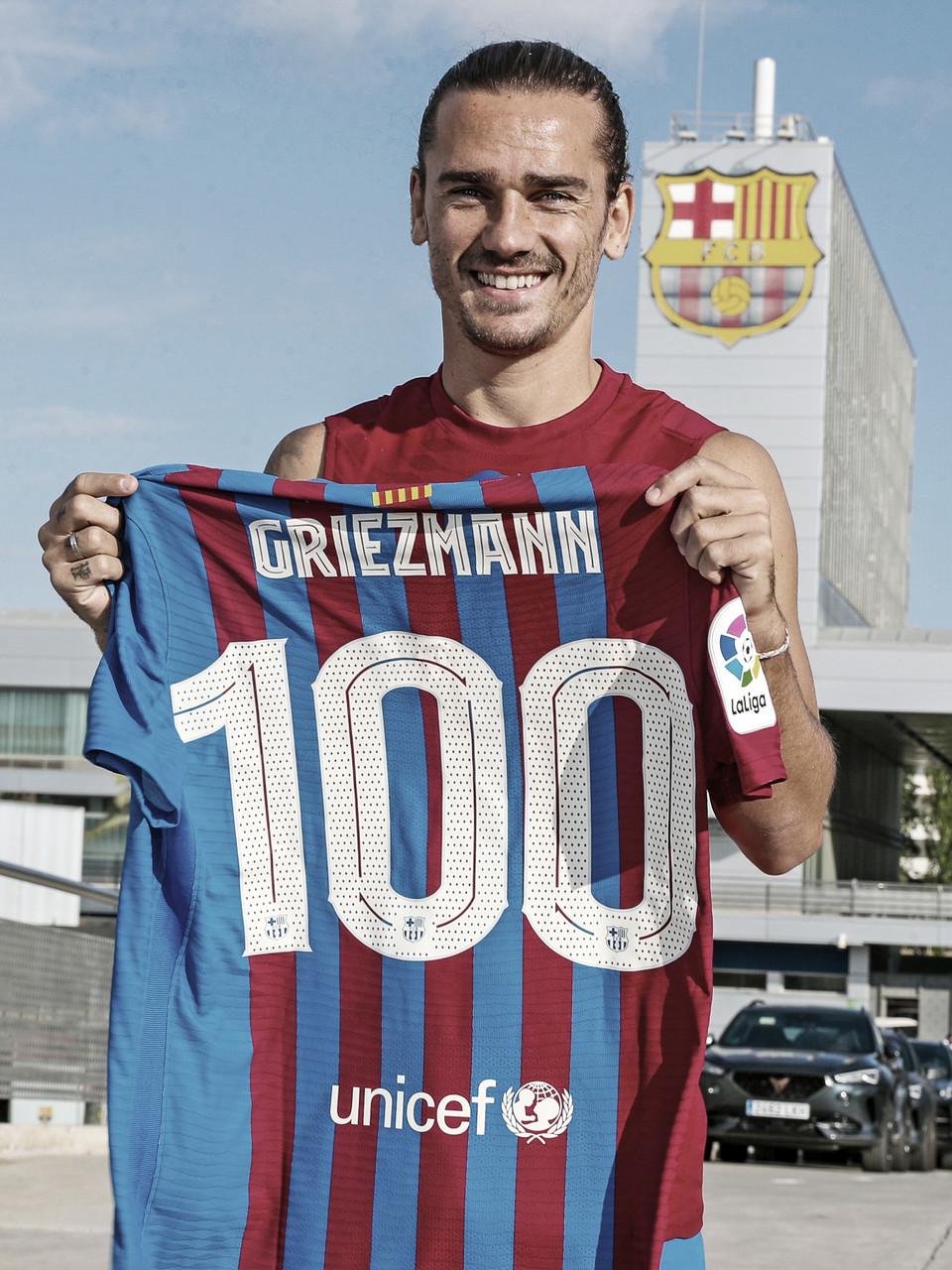 Centenario de Griezmann con el Barça