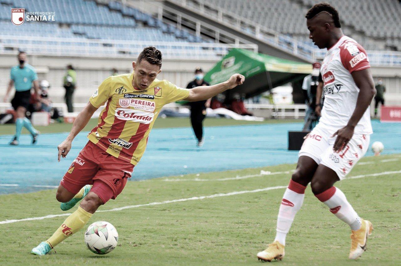 Puntuaciones tras el agónico empate de Independiente Santa Fe contra Pereira