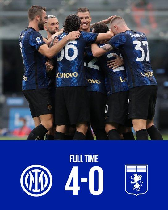 Serie A - L'Inter inizia con una vittoria: battuto il Genoa per 4-0