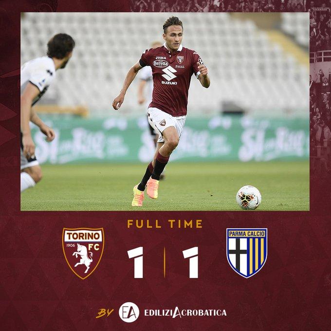 Serie A- Tra Torino e Parma finisce 1-1