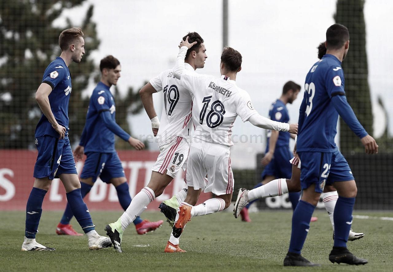 Kenneth Soler y Hugo Duro celebran el 1-1 | Fuente: www.realmadrid.com
