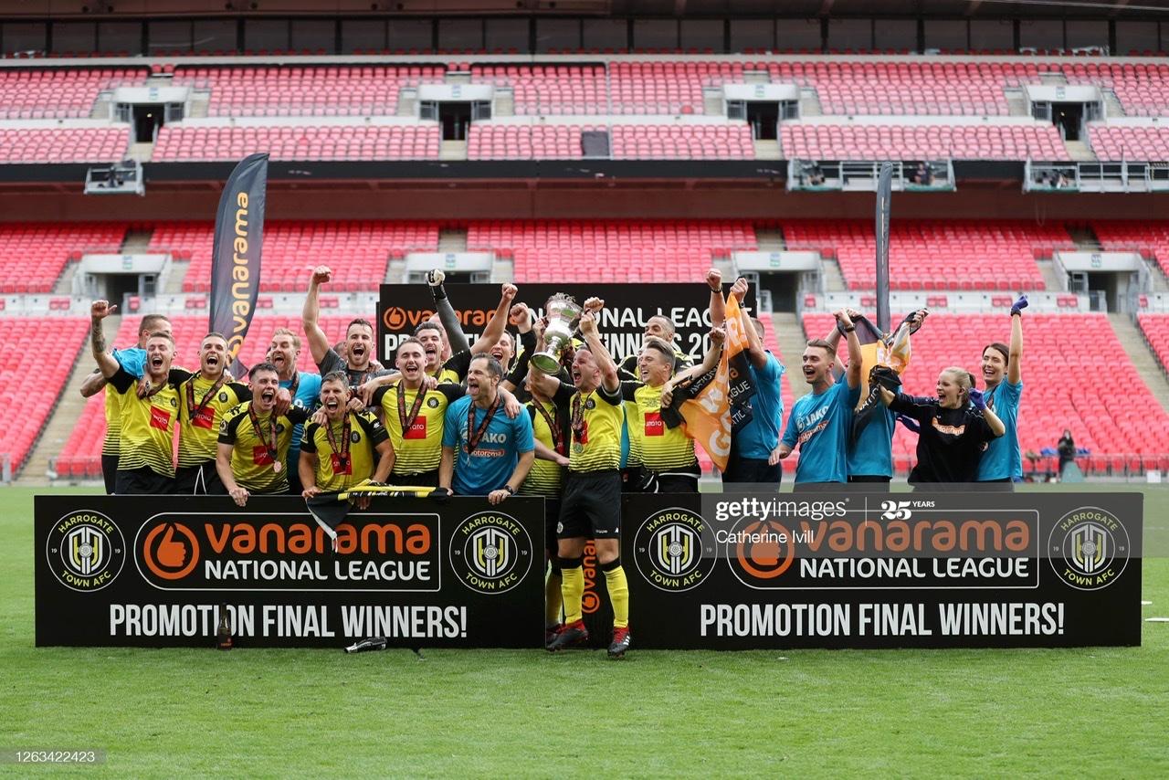 Harrogate Town 3-1 Notts County: Harrogate make history with promotion