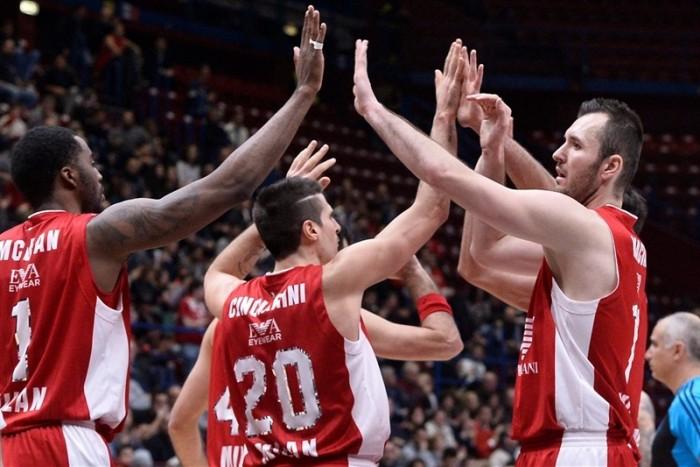 Legabasket Serie A - Milano vince il big match contro Venezia e conquista il primo posto matemtico (88-80)