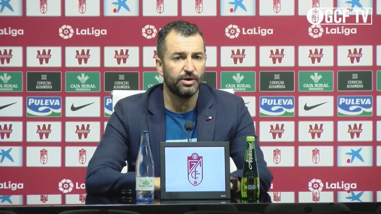 """Diego Martínez: """"El partido y la imagen del Granada ha sido buena"""""""