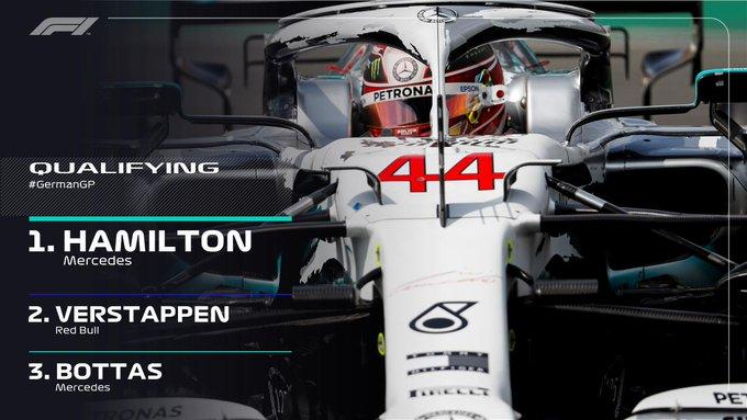 F1 - GP Germania: le qualifiche - Disastro Ferrari, pole Hamilton davanti a Verstappen