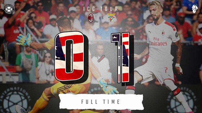 ICC, Buon Milan ma esce sconfitto con il Benfica (0-1)