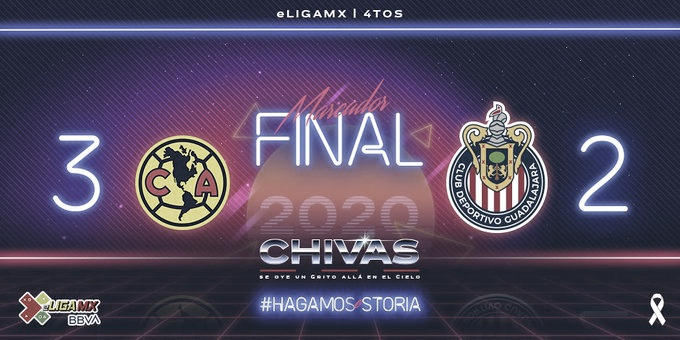 América elimina al Guadalajara de la eLiga MX en tiempo extra