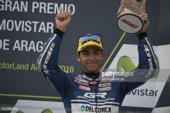 Bittersweet podium for Bastianini in Aragon