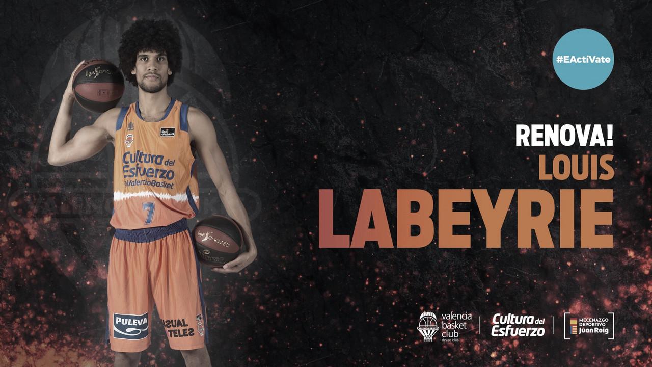 Louis Labeyrie extiende su contrato con Valencia Basket hasta 2022