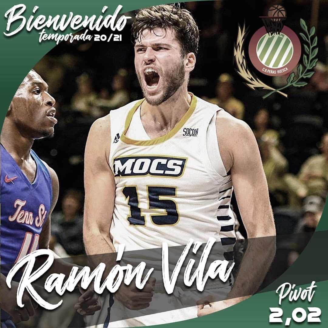 Ramón Vilà, talento NCAA para el juego interior de CB Peñas Huesca