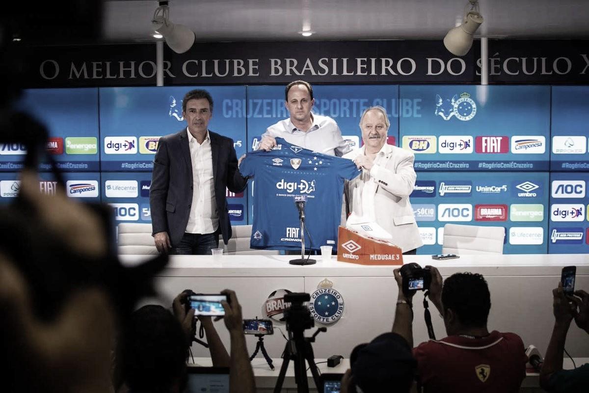 Em apresentação, Rogério Ceni destaca 'momento mágico' na carreira ao comandar o Cruzeiro