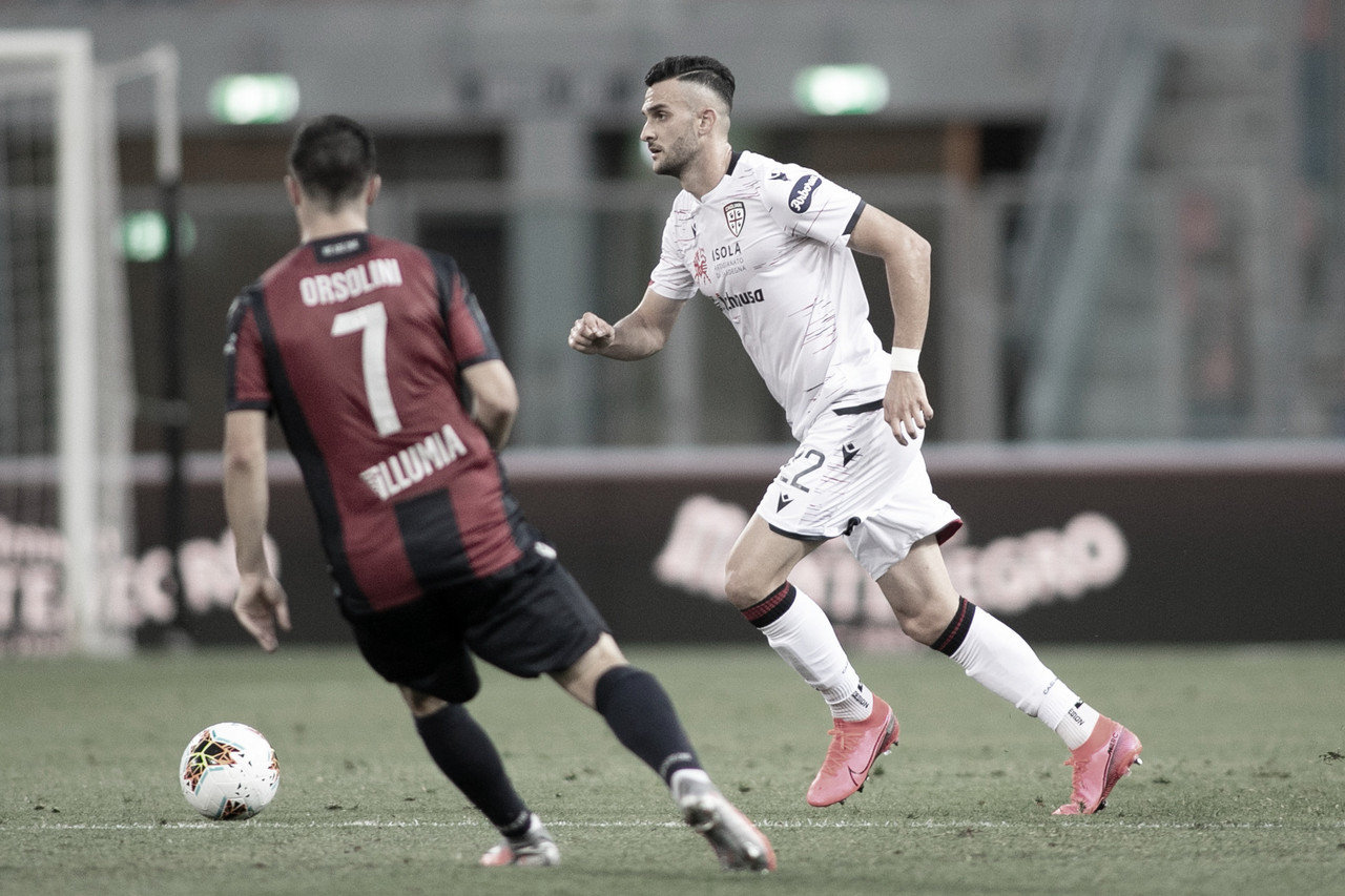 Giovanni Simeone marca pelo quarto jogo seguido, mas Cagliari não sai do empate contra Bologna