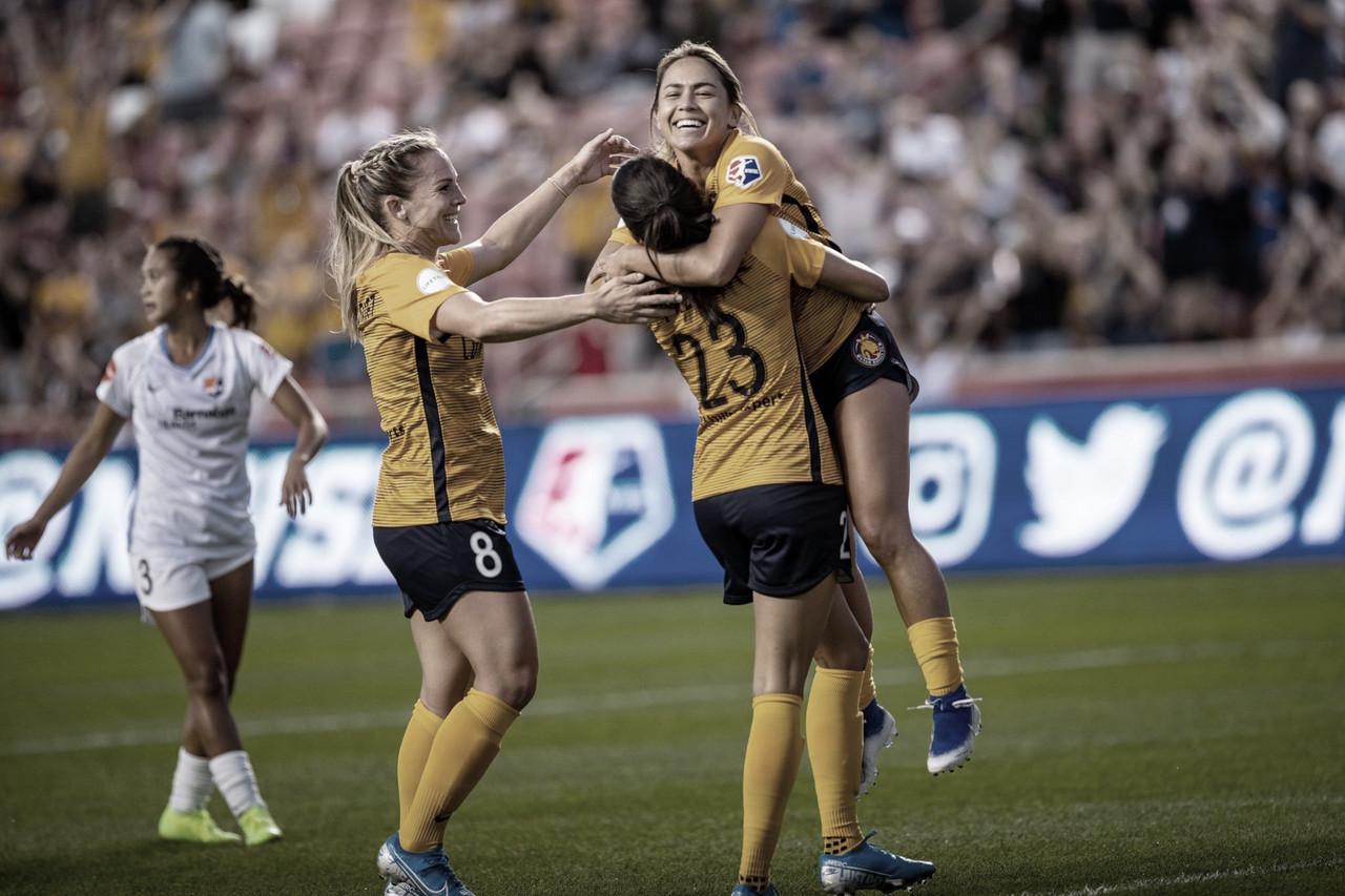 Utah Royals FC wins 3-0 over Sky Blue FC as Christen Press scores a brace