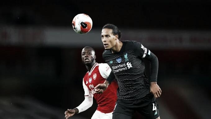 Van Dijk assume culpa em derrota do Liverpool após falha no primeiro gol contra Arsenal