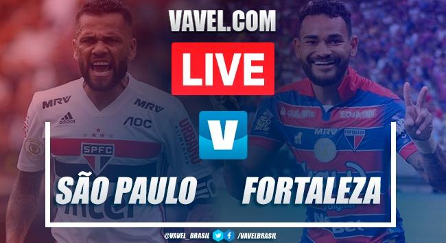 Gols e melhores momentos para São Paulo 2x1 Fortaleza pelo Brasileirão