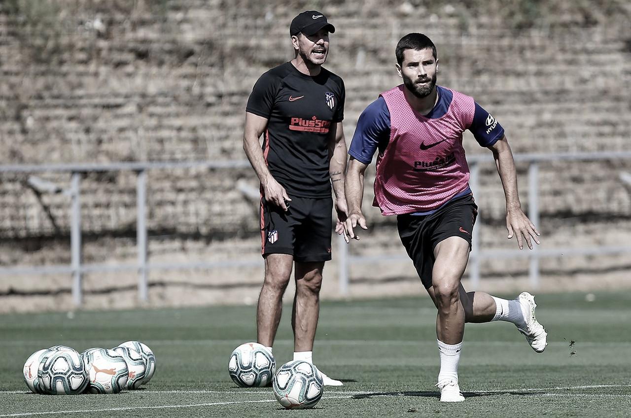 El Atlético de Madrid entrena con tres bajas por lesión en la plantilla