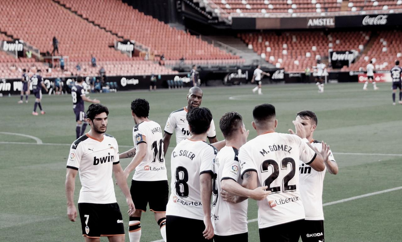 Las puntuaciones del Valencia frente al Valladolid