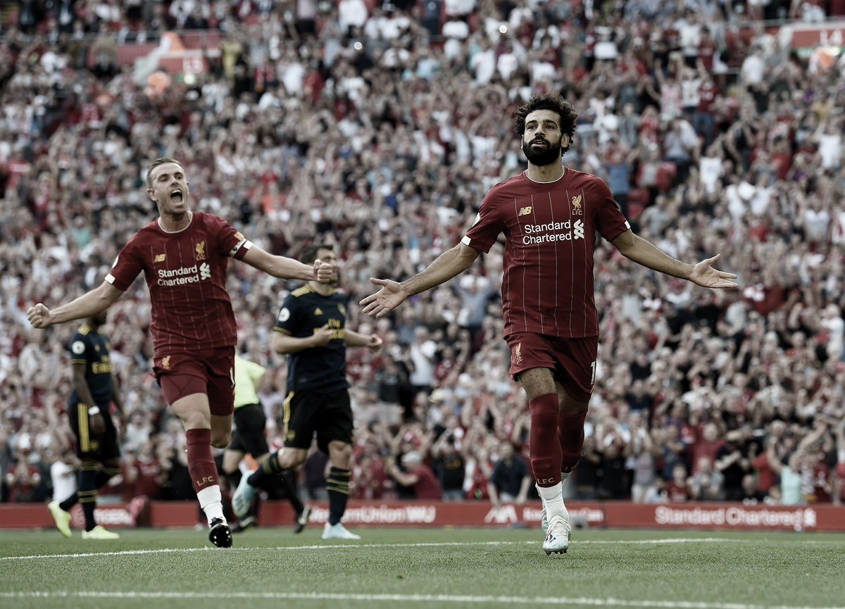 Em dia de Salah, Liverpool vence Arsenal em Anfield