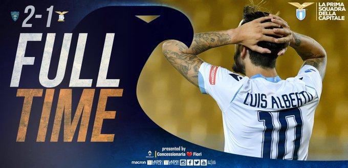 Serie A - La Lazio non sa più vincere: biancocelesti sconfitti a Lecce (2-1)