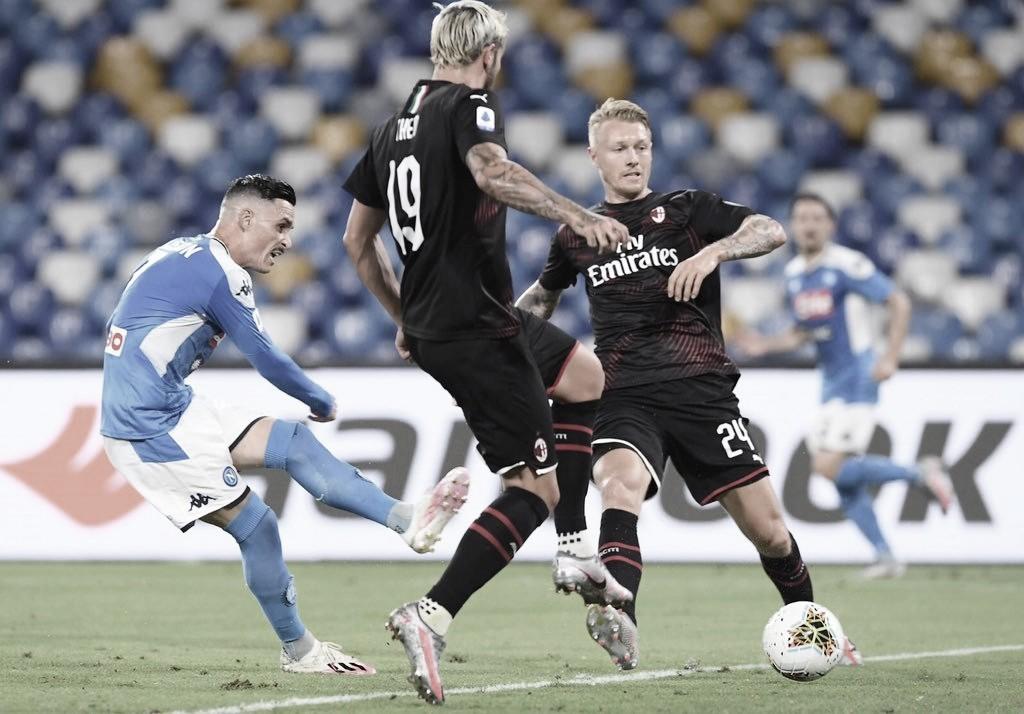 Napoli vira sobre Milan, porém cede empate com gol de pênalti