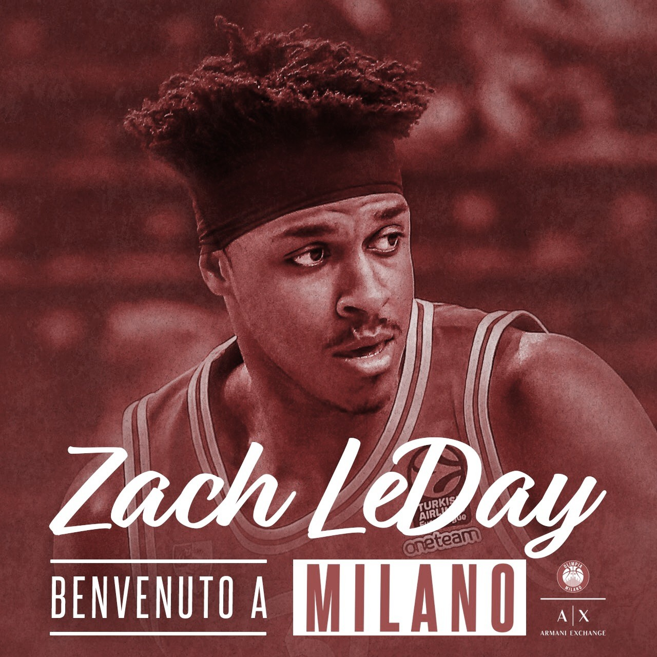 Zach LeDay, octava pieza del rompecabezas de Armani Milán