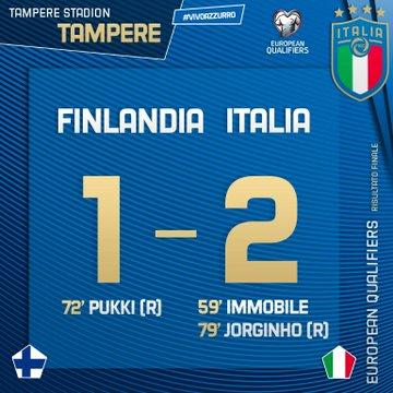 L'Italia vince contro la Finlandia: azzurri ad un passo dalla qualificazione all'Europeo 2020 (2-1)