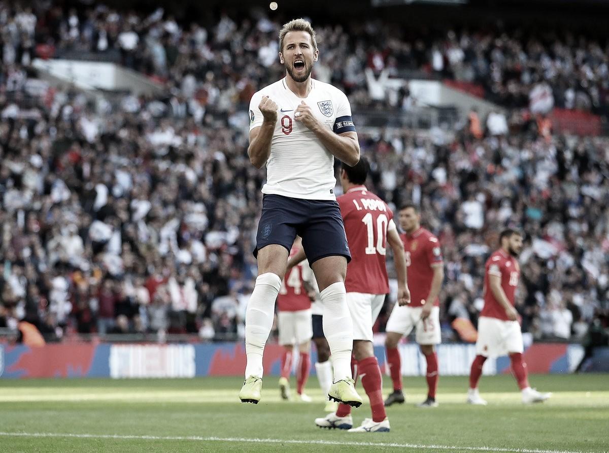 Com Hat-Trick de Harry Kane, Inglaterra goleia Bulgária e se isola na liderança do grupo A