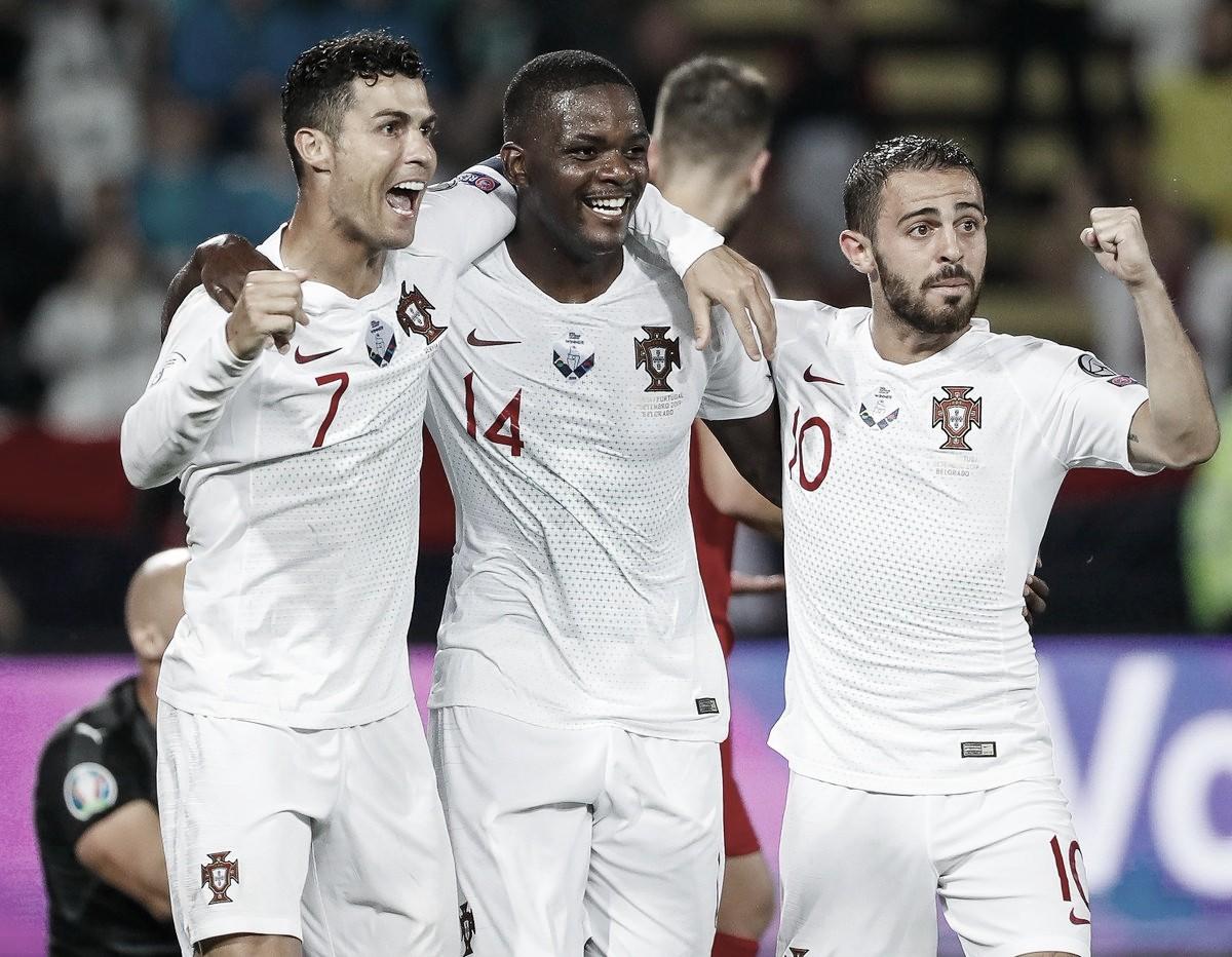Portugal bate Sérvia e conquista primeira vitória nas Eliminatórias da Euro