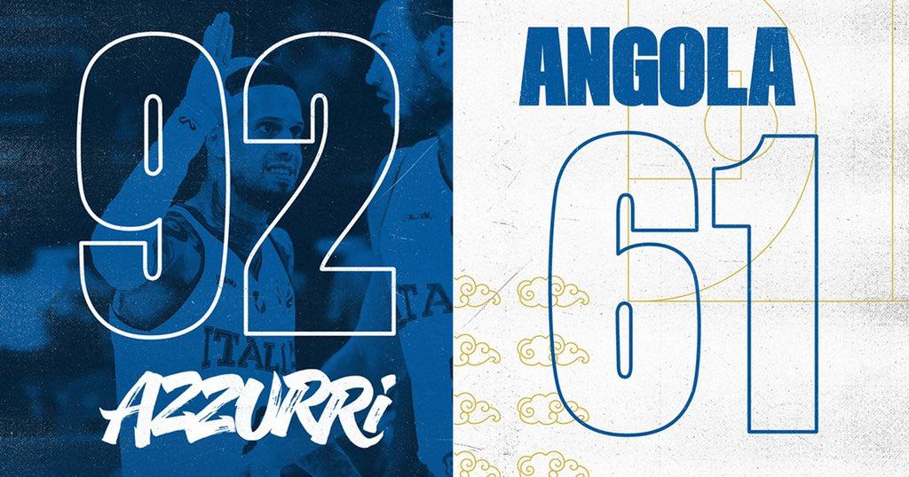 Mondiali FIBA Cina 2019- L'Italia strapazza una buona Angola 92-61