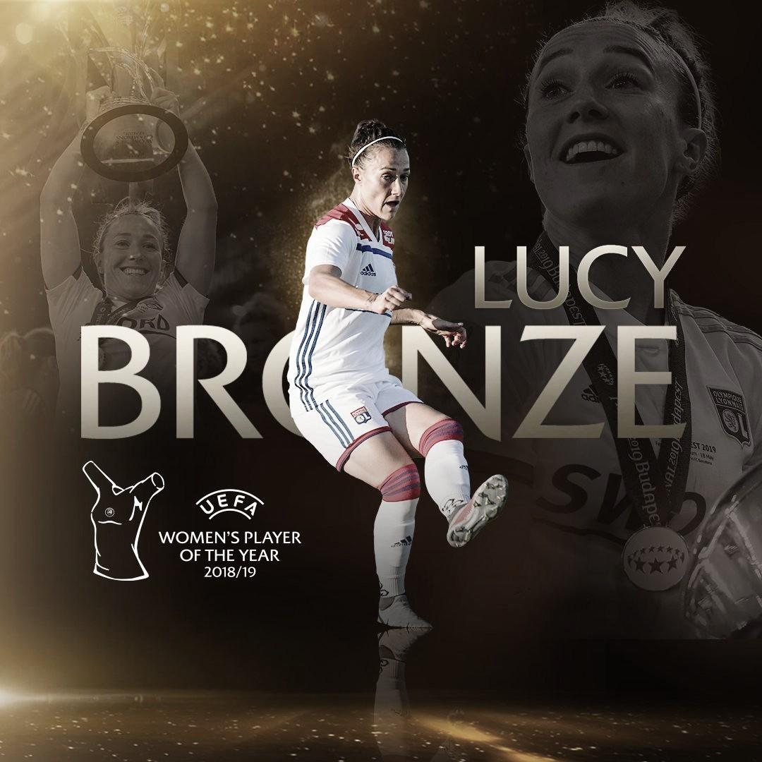 Lucy Bronze conquista prêmio de melhor jogadora da Europa