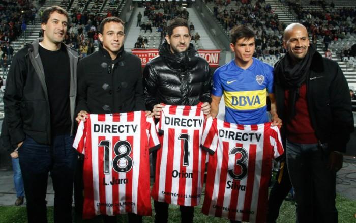 Jara, Orión y Silva reconocidos por el club