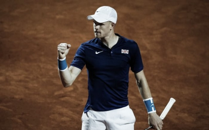 Kyle Edmund takes Britain into Davis Cup semifinals