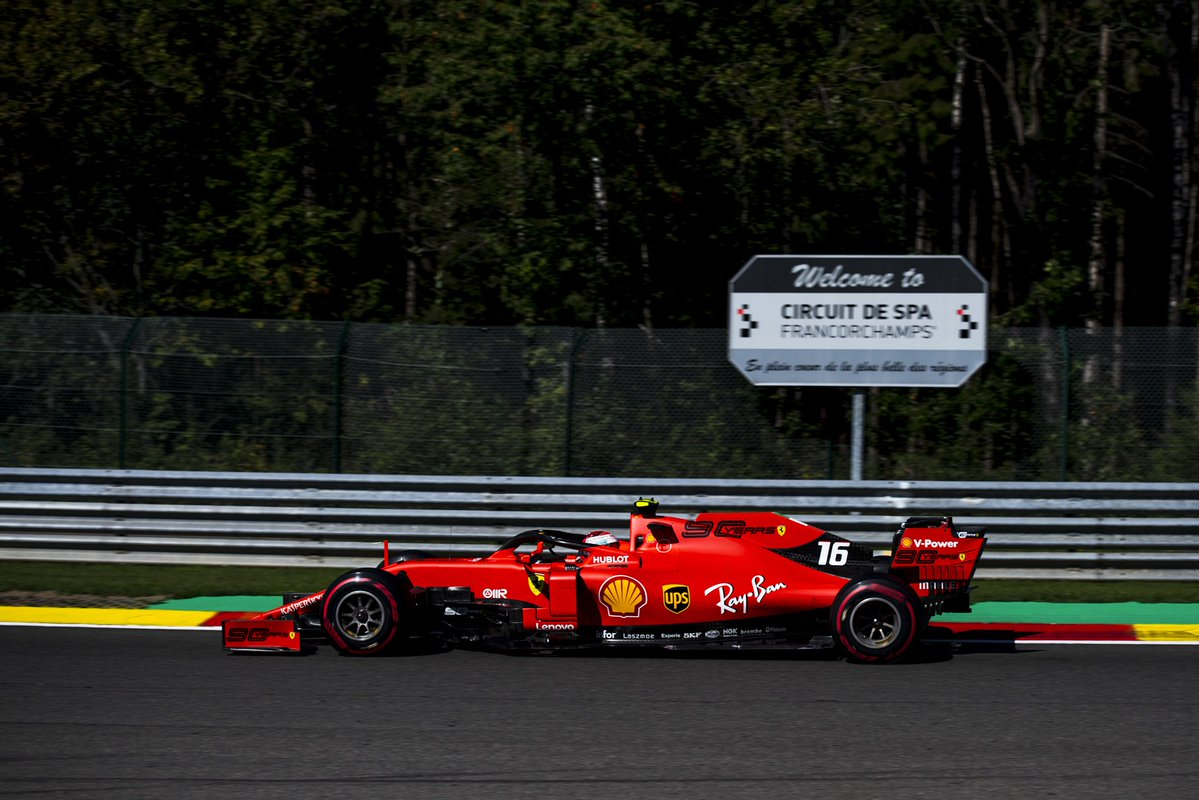 Formula 1, Gran Premio del Belgio: Leclerc in testa nelle libere 3