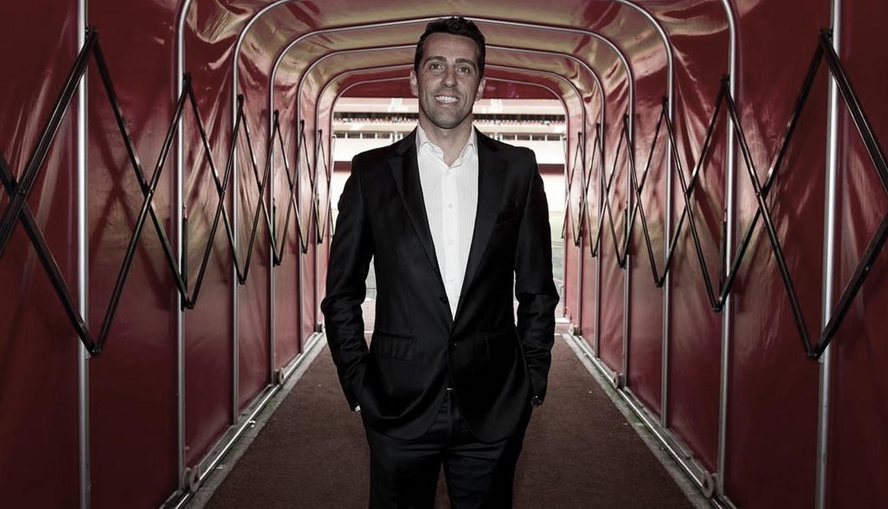Arsenal apresenta Edu Gaspar como diretor técnico do clube