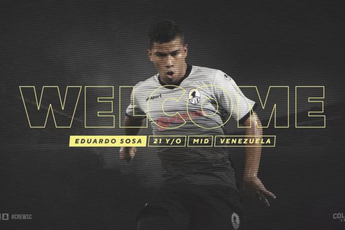 Eduardo Sosa vestirá la camiseta del Columbus Crew SC de la MLS