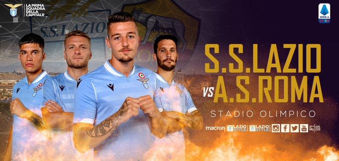 Alle 18.00 il Derby della capitale: Mai nella storia della Serie ALazio-Romasi è giocata così presto