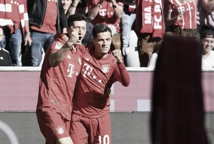 Coutinho marca seu primeiro gol na Bundesliga em goleada do Bayern sobre o Colônia