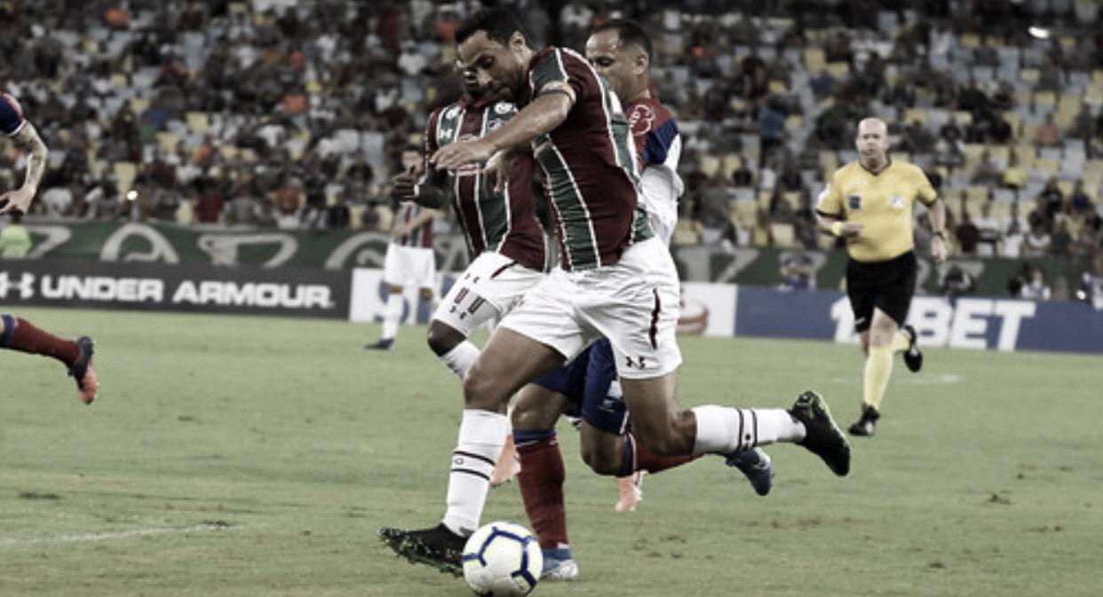 """Após gol e vitória, Nenê comemora Flu mais distante do Z-4: """"Nosso objetivo"""""""