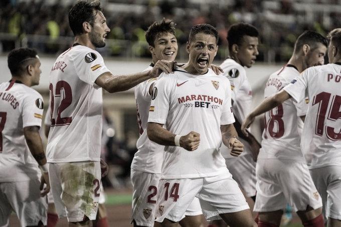 El Sevilla comienza goleando la campaña europea